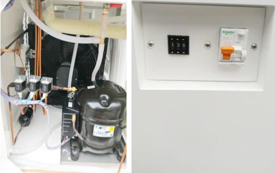 高低温试验机制冷系统及施耐德漏电开关