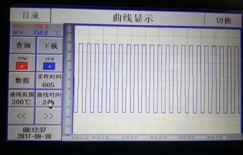 高低温循环冲击试验箱曲线