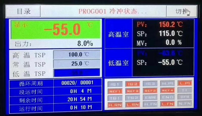 储蓄式温度冲击试验箱控制器系统