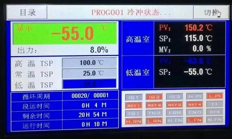 两槽式高低温冲击试验箱控制器